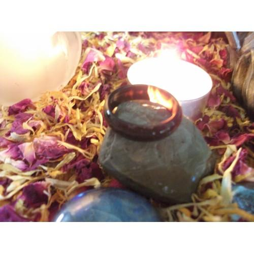 MAKE A WISH SPELL INFUSED TO AGATE RING love, health, money etc....