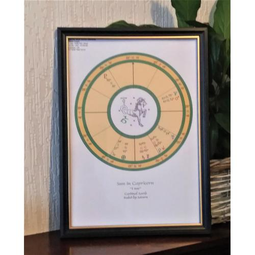 Capricorn Astrological Birth Chart - Capricorn Child - reading for framing